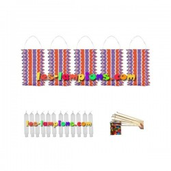 Kit lampions led cylindriques multicolores