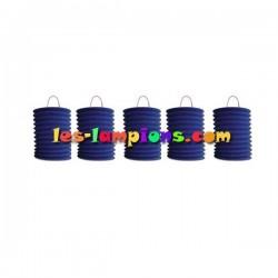 Lampion cylindrique bleu (sachet de 12 lampions)