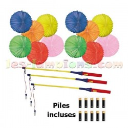 Kit lampions led boules multicolores