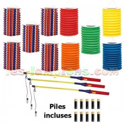 Kit lampions led coloris assortis