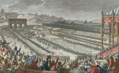 Fête de la fédération du 14 juillet 1790
